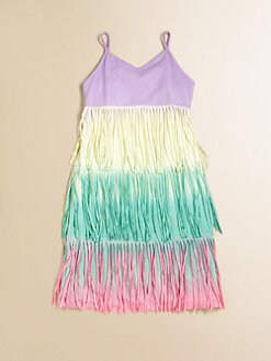 Flowers by Zoe - Girl's Jersey Fringe Tank Dress