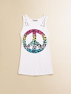Flowers by Zoe - Girl's Peace-Print Tank Top