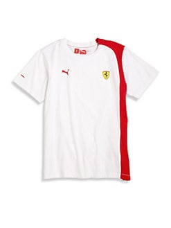 PUMA Ferrari - Boy's Colorblocked Ferrari Tee