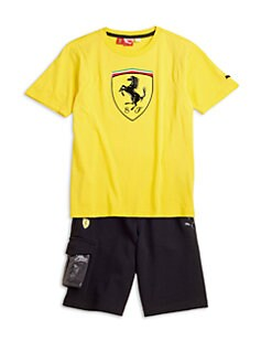PUMA Ferrari - Boy's Ferrari Cotton Tee