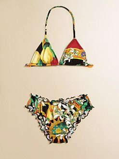 Dolce & Gabbana - Girl's Two-Piece Floral Bikini
