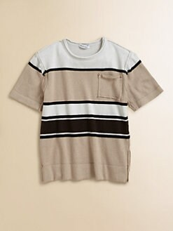 Dolce & Gabbana - Boy's Striped Raw Edge Pullover