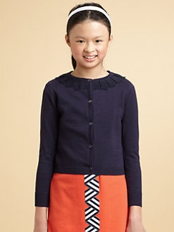 KC Parker - Girl's Pleated Ribbon Cardigan