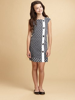 KC Parker - Girl's Embroidered Poplin Shift Dress