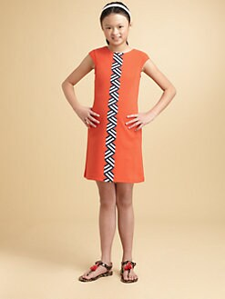 KC Parker - Girl's Ribbon-Trimmed Ponte Dress