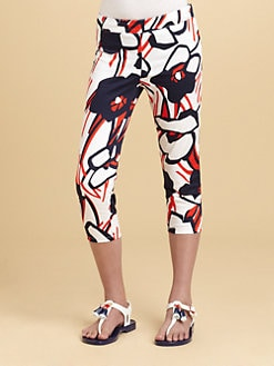 KC Parker - Girl's Floral Sateen Capri Pants