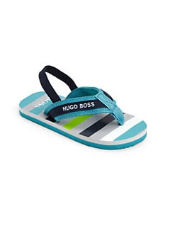 Hugo Boss - Toddler's and Little Boy's Striped Flip Flops