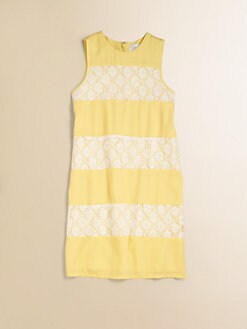Blush by Us Angels - Girl's Lace Striped Tank Dress