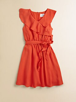 Blush by Us Angels - Girl's Ruffled Wrap Dress