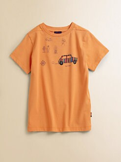 Paul Smith - Boy's Camping-Motif T-Shirt