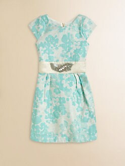 Zoe - Girl's Shimmer Brocade Dress