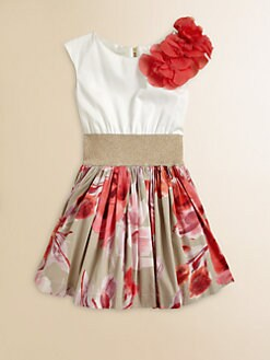 Zoe - Girl's Floral-Skirt Dress