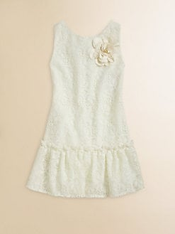 Zoe - Girl's Crocheted Lace Dress