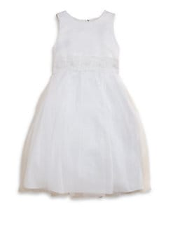 Us Angels - Girl's Hand-Beaded Cummerbund Organza Dress