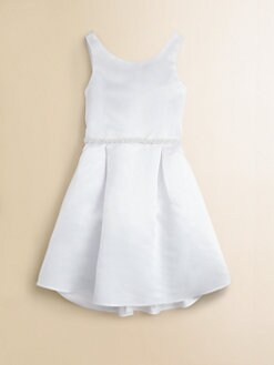 Us Angels - Girl's Faux Pearl-Beaded Satin Dress