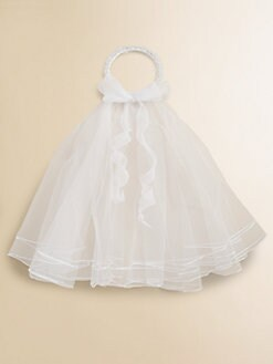 Us Angels - Girl's Wreath and Removable Veil