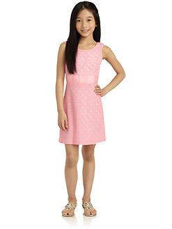 KC Parker - Girl's Eyelet Knit Dress
