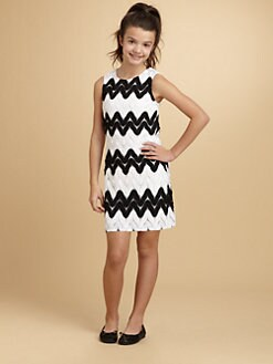 KC Parker - Girl's Lacy Zigzag Dress