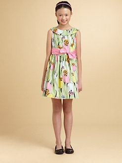 KC Parker - Girl's Tulip Print Dress
