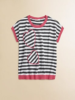 Design History - Girl's Striped Heart Sweater