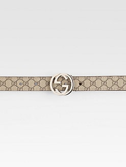 Gucci - Kid's Interlocking G Buckle Belt