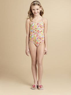 Oscar de la Renta - Girl's Floral One-Piece Swimsuit
