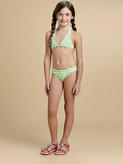 Oscar de la Renta - Girl's Striped Bikini