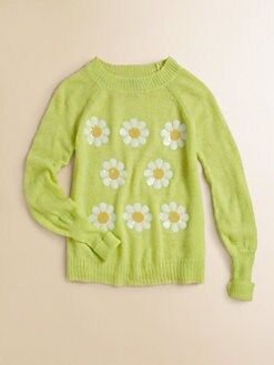 Wildfox Kids - Girl's Sparkly Daisy Sweater