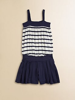 Junior Gaultier - Girl's Striped Combo Romper/Dress