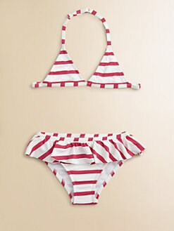 Junior Gaultier - Girl's Sailor Stripe Two-Piece Bathing Suit