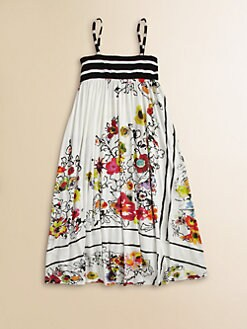 Junior Gaultier - Girl's Bohemian Print Maxi Dress