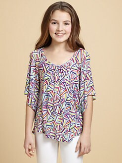 Ella Girl - Girl's Cross-Back Print Top