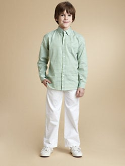 Oscar de la Renta - Boy's Tattersall Check Shirt