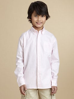 Oscar de la Renta - Boy's Ribbon Stripe Shirt