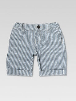 Gucci - Boy's Striped Cotton Bermuda Shorts