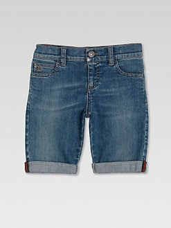 Gucci - Boy's Denim Bermuda Shorts