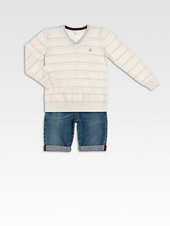 Gucci - Boy's Striped Merino Wool Sweater