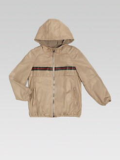 Gucci - Boy's Leather Hooded Jacket