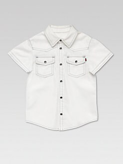 Gucci - Boy's Bleached Denim Shirt