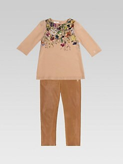 Gucci - Girl's Silk Floral Blouse