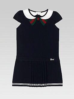 Gucci - Girl's Oltremare Pleated Dress