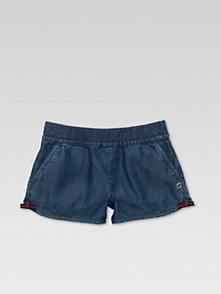 Gucci - Girl's Denim Shorts