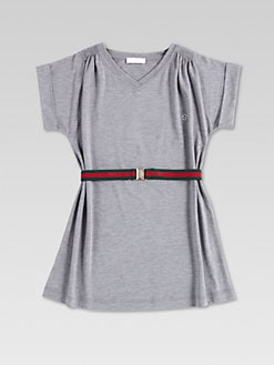 Gucci - Girl's Signature Web Belted Dress