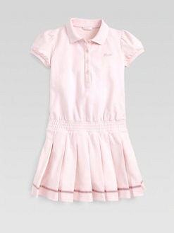 Gucci - Girl's Pleated Piqué Polo Dress