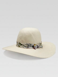Gucci - Kid's Floral Straw Hat