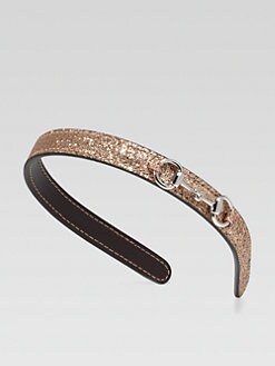 Gucci - Girl's Glitter Horsebit Headband