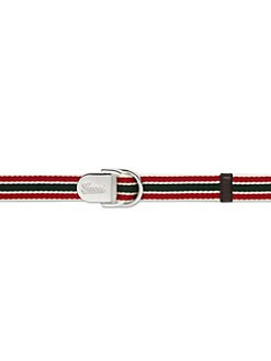 Gucci - Kid's D-Ring Ribbon Sliding Buckle Belt