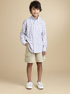 Oscar de la Renta - Boy's Pastel Plaid Shirt