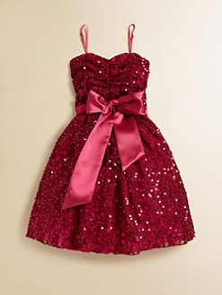 Un Deux Trois - Girl's Sequined Party Dress