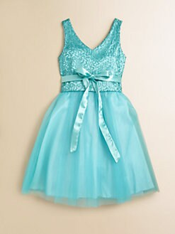 Un Deux Trois - Girl's Sequined Lace Party Dress